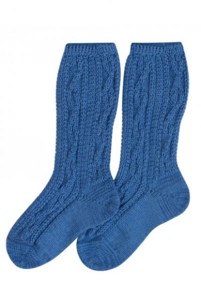 Kinder-Shoppersocken blau Rankenmuster Lusana