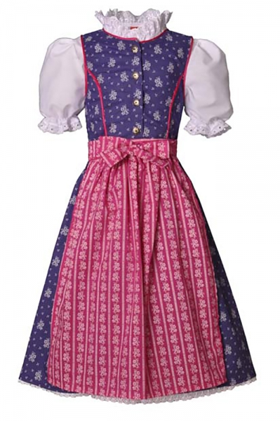 Kinderdirndl Tarja lila/pink 3-tlg. Trachtenset
