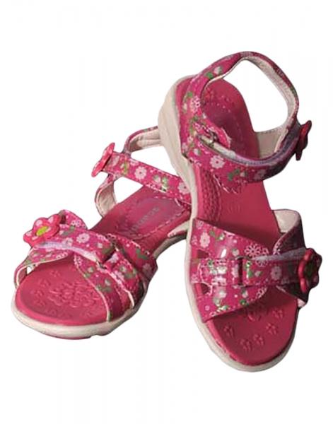 Kinder Sandaletten Tina fuchsia Klettverschluß