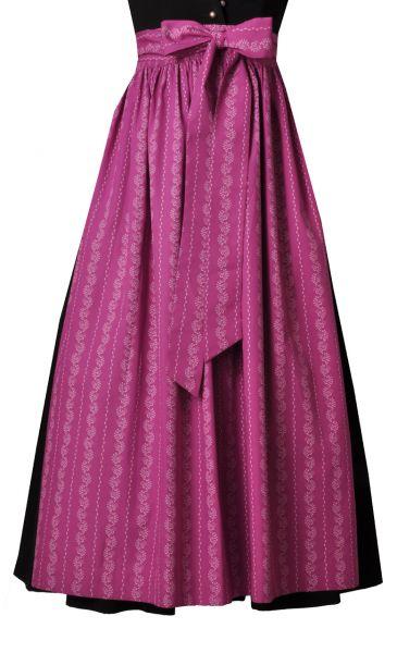 Dirndlschürze lang 89 cm magenta/rosa Hammerschmid