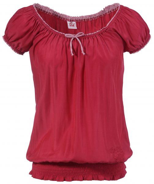 Trachtenshirt Carmenshirt Ginzing rot Spieth & Wensky