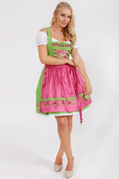 Dirndl mini 50 cm Shiner grün/pink Krüger