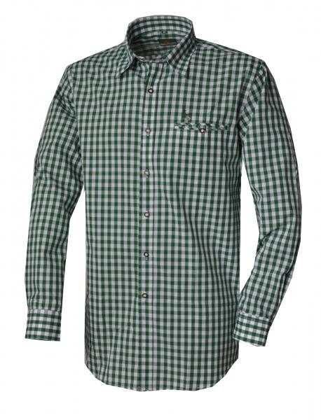 Trachtenhemd Kemnath grün Karo Langarm Kitzo Alpen