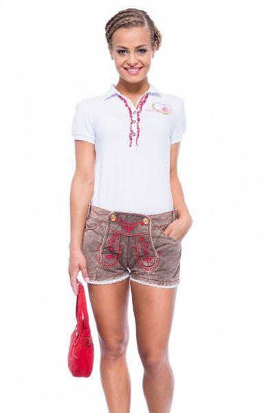 Textil-Shorts Jeans Used braun Krüger Madl