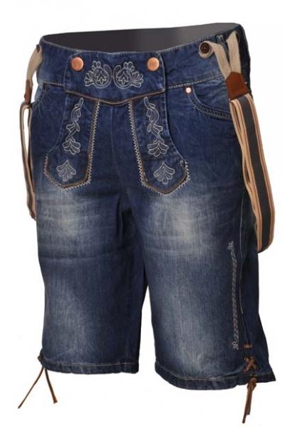 Trachtenjeans Jeans Antonio blau Träger Hangowear Marjo