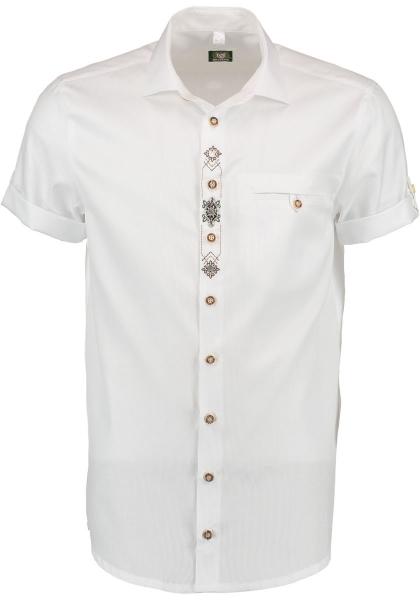 Trachtenhemd Kleinreit weiß Kurzarm OS Trachten