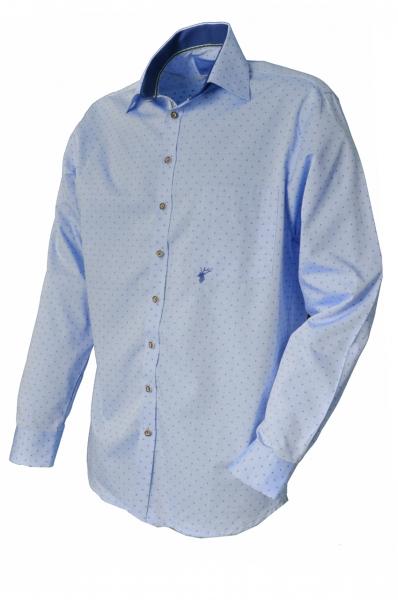 Trachtenhemd Mistlgau langarm blau OS Trachten
