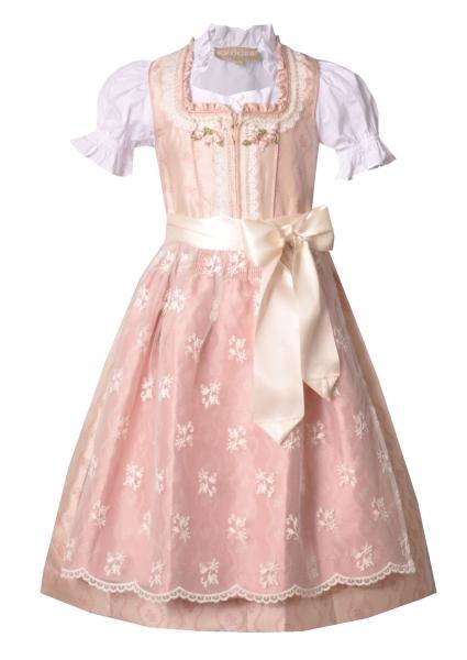 Kinderdirndl Set Princess rosa creme Trachtenset 3-tlg. Krüger