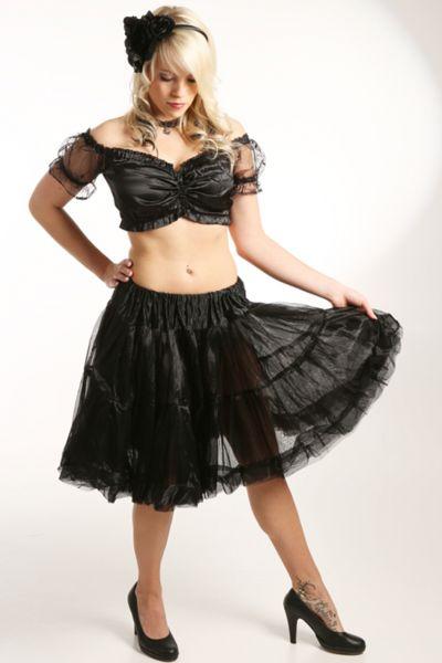Petticoat 50 cm Daisy schwarz Fuchs