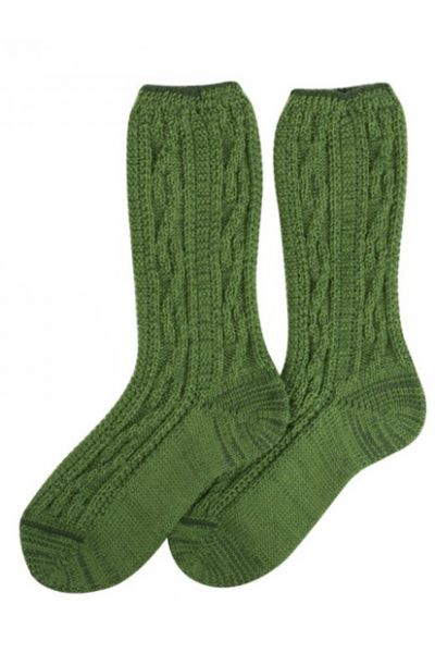 Kinder-Shoppersocken apfelgrün Lusana