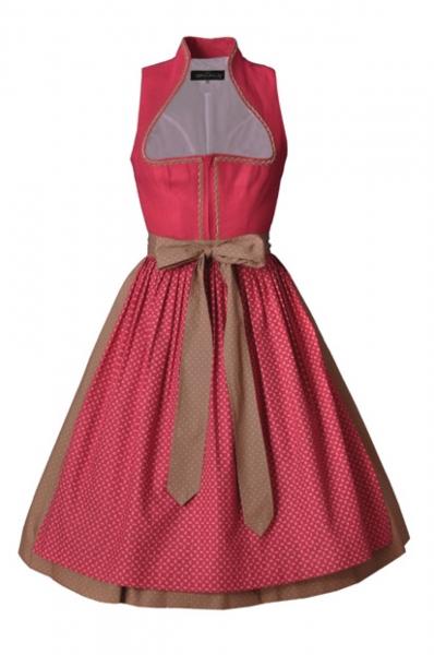 Dirndl midi 65 cm Luzie pink/himbeere/braun Berwin & Wolff