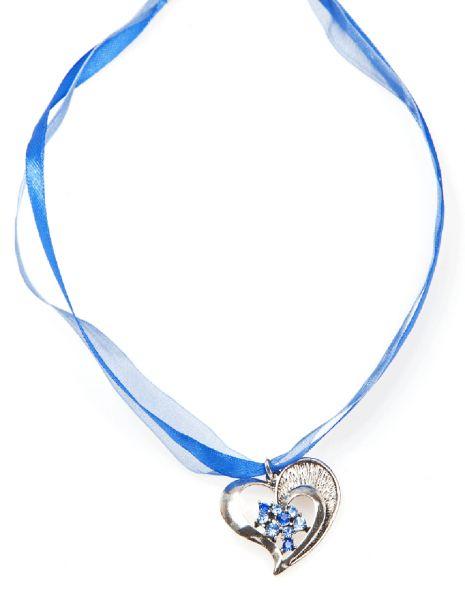Dirndlkette Herz blau