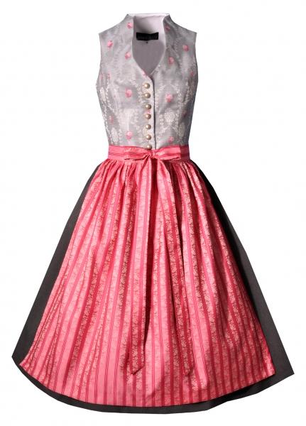 Dirndl midi 72 cm Wassing silber pink anthrazit Berwin & Wolff