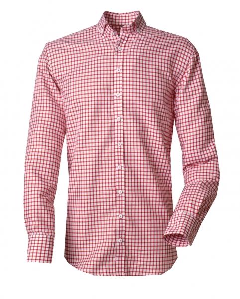 Trachtenhemd Weil Karo rot Langarm von OS Trachten
