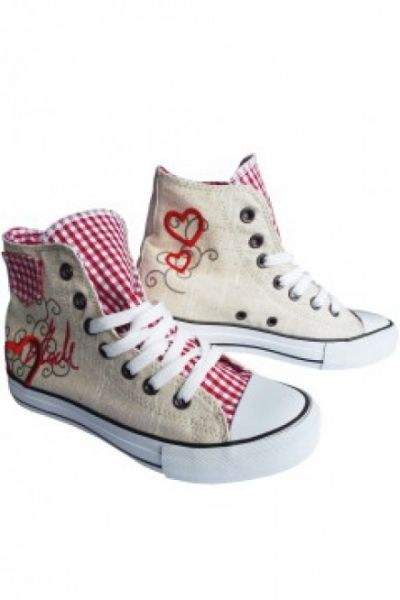 Sneaker Red Heart beige/rot Krüger Madl