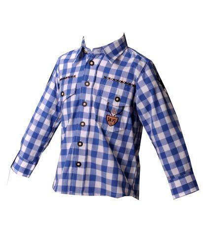 Kinder Trachtenhemd Andy blau OS Trachten