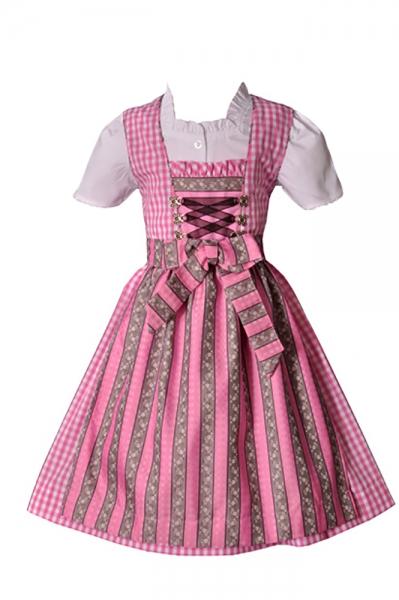 Kinderdirndl Lotta rosa 3-tlg. Set Isar Trachten