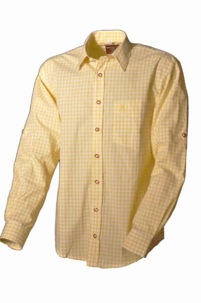 Trachtenhemd Ludwig gelb OS Trachten