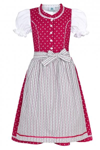 Kinderdirndl Jugenddirndl Fuchsstadt pink Trachtenset 3tlg. Isar-Trachten