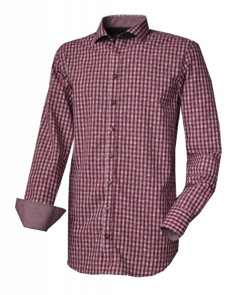 Herren Trachtenhemd Konigsmoos Rot Von Os Trachten Trachtenoutlet24