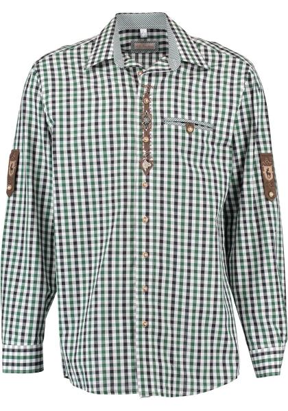 Trachtenhemd Engkofen trachtengrün grün Krempelarm OS-Trachten