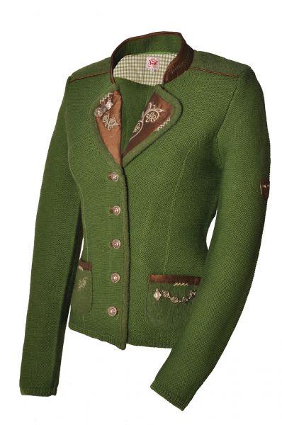 Trachten-Strickjacke Wonne grün Spieth & Wensky
