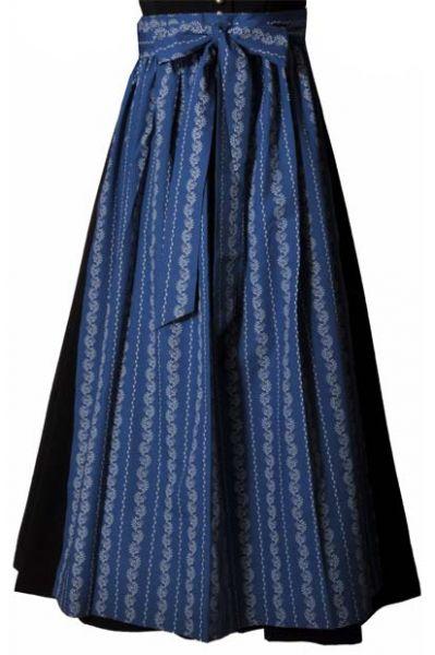 Dirndlschürze lang 89 cm blau Hammerschmid