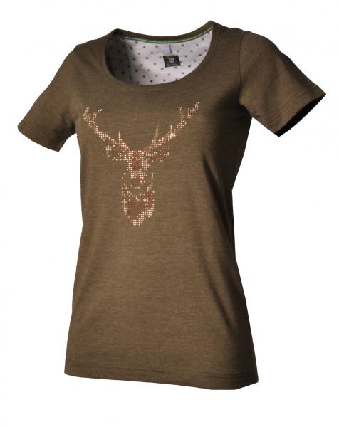 Trachten T-Shirt Eußenheim oliv Kurzarm OS Trachten