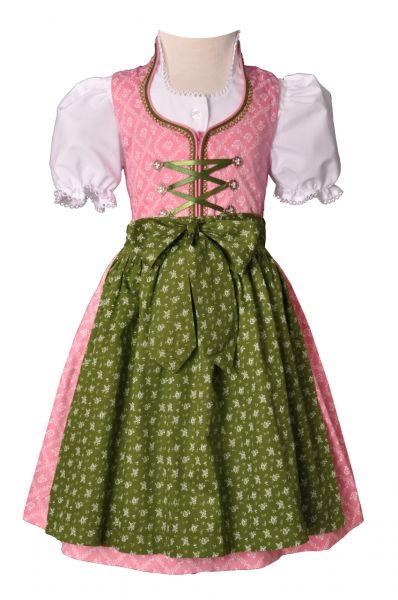 Kinderdirndl Nicki altrosa/grün Trachtenset 3-tlg. Turi Landhaus