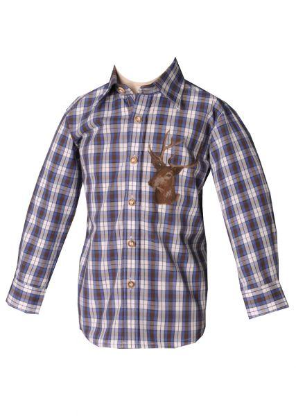 Kinder Trachtenhemd Fuchstal jeans/blau OS Trachten