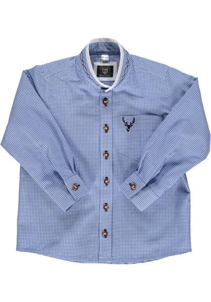 Kinder Trachtenhemd Hofpoint mittelblau blau OS Trachten