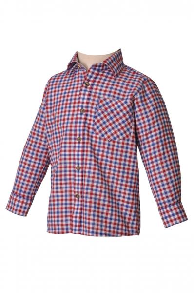 Kinder Trachtenhemd Durach rot/blau OS Trachten