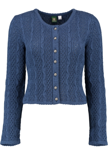 Trachten Strickjacke Trachtenjacke Syrgenstein jeans blau OS Trachten