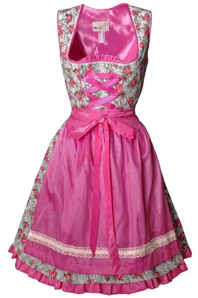 Dirndl mini Agnes grau/pink Marjo