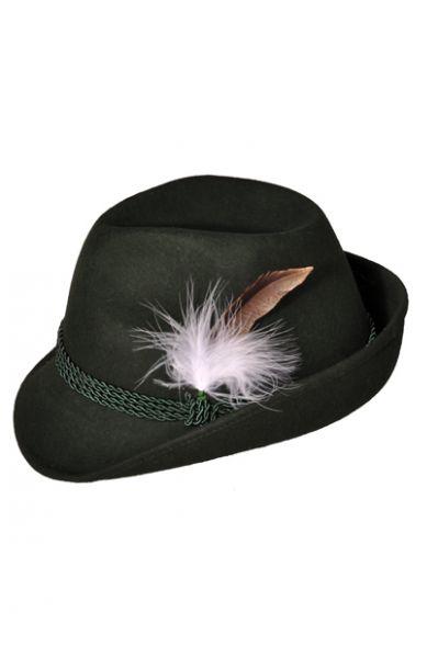 Trachtenhut Wilma grün Feder