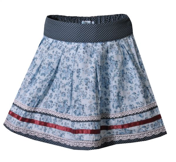 Mädchen Trachtenrock Nala Kids hellblau blau MarJo