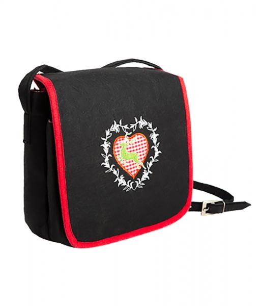Trachtentasche schwarz/rot