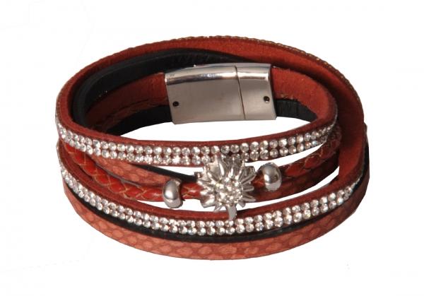 Trachten Armband Oberstreu rot dunkelrot Wolkenweis