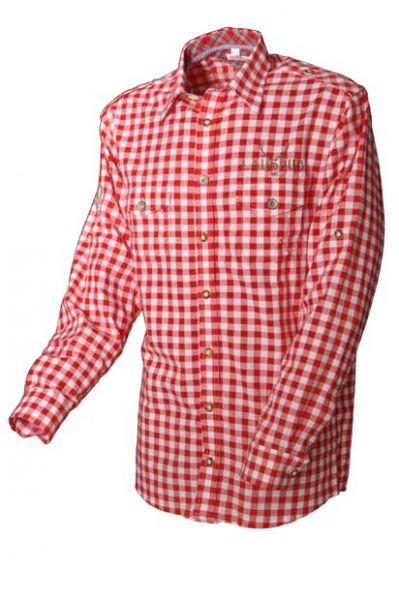 Trachtenhemd Lausbub rot Karo Krempelarm OS Trachten