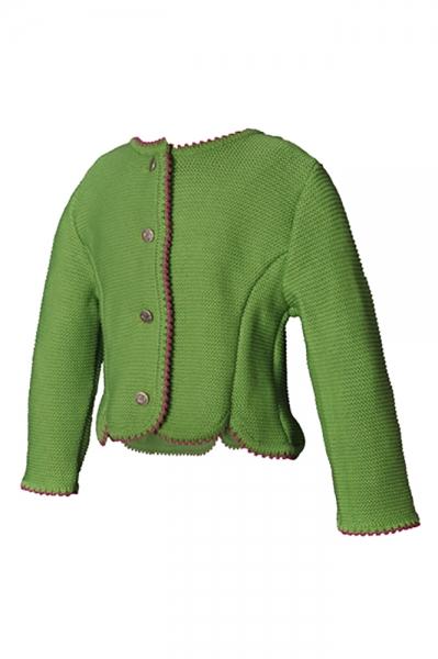 Trachten Strickjacke Larissa grün Isar Trachten