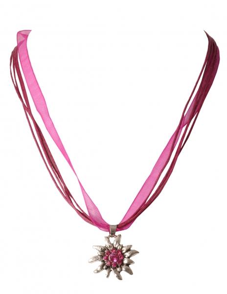 Dirndlkette Hohenau pink Edelweiß v. Wolkenweis
