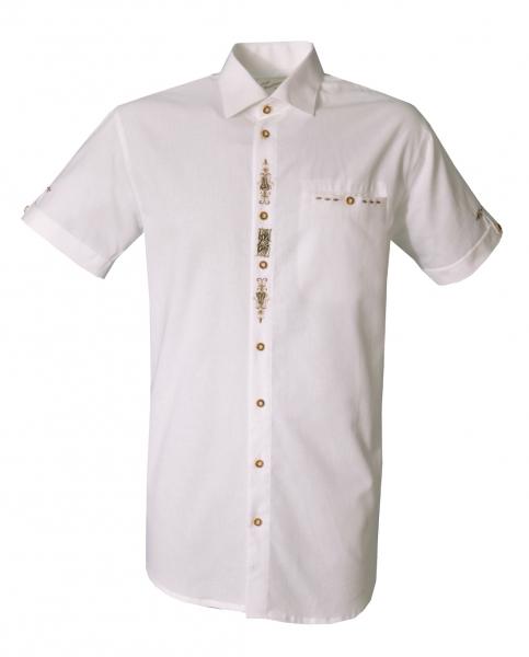 Trachtenhemd Iglbach weiß Kurzarm Regular Fit OS-Trachten