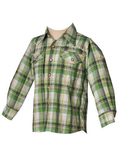 Kinder Trachtenhemd Ilias giftgrün langarm OS-Trachten