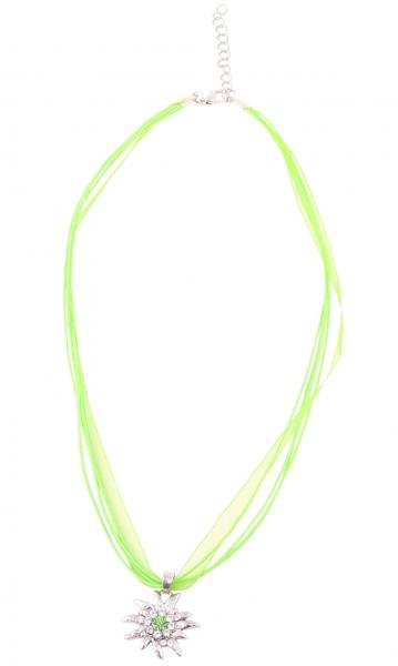 Dirndlkette Hohenau apfelgrün Edelweiß