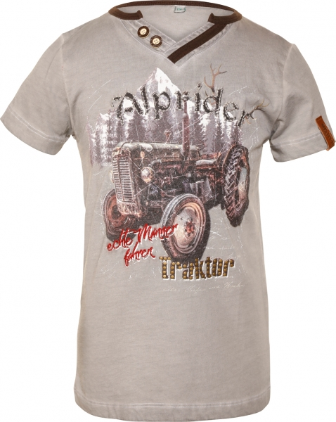 Kinder Trachten T-Shirt Klaas Kids grau Marjo