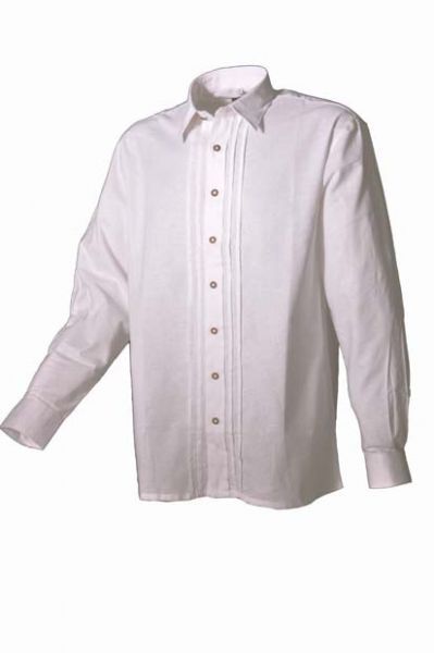 Trachtenhemd Alois weiß Biesen OS Trachten