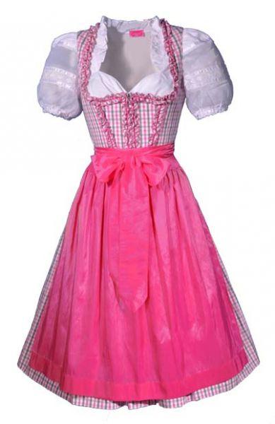 dirndl midi 70 cm annegret pink rosa grau kr ger feelings. Black Bedroom Furniture Sets. Home Design Ideas