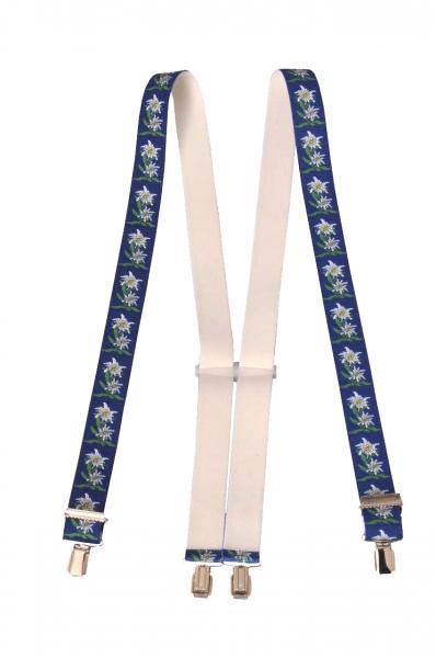 Trachtenhosenträger Hosenträger Trachten blau Edelweiss