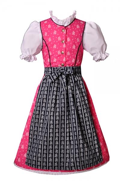 Kinderdirndl Tarja pink/blau 3-tlg. Trachtenset