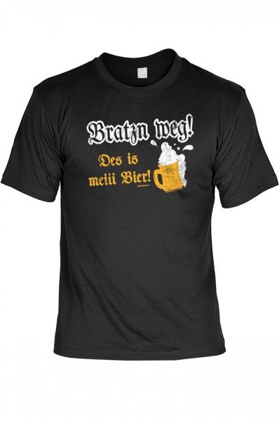 Trachtenshirt Bratzn weg! Des is meiii Bier schwarz